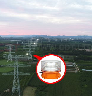Chinese State Grid Iron Tower Aviation Obstruction Light Project