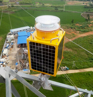 Infra-Red Solar power Medium Intensity Aviation obstruction lights have been installed on Electrical Power Towers.