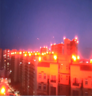 Aviation Obstruction Lights are applicated to the Highrise Buildings