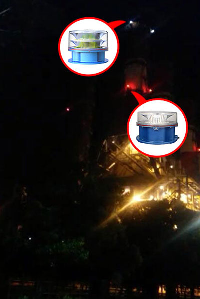 Aviation obstruction light for Chimney in Indonesia