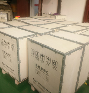 How your obstruction lights or helipad lights be packed in CDT