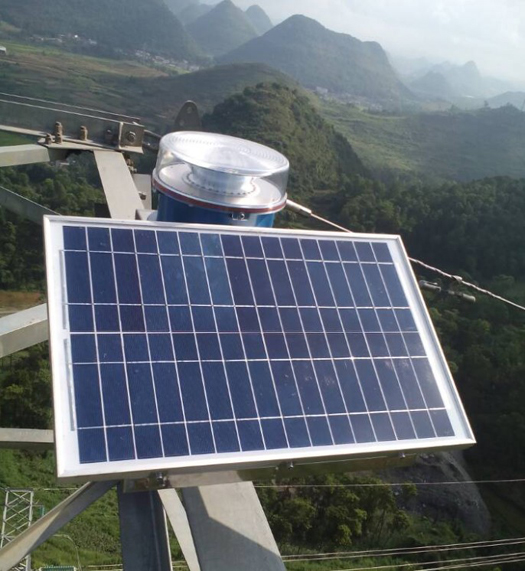 CK-16 Solar Power Medium Intensity Obstruciton lights for 220KV Electrical Power Tower Project