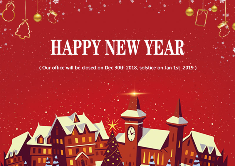 Notice :New years holiday office closures