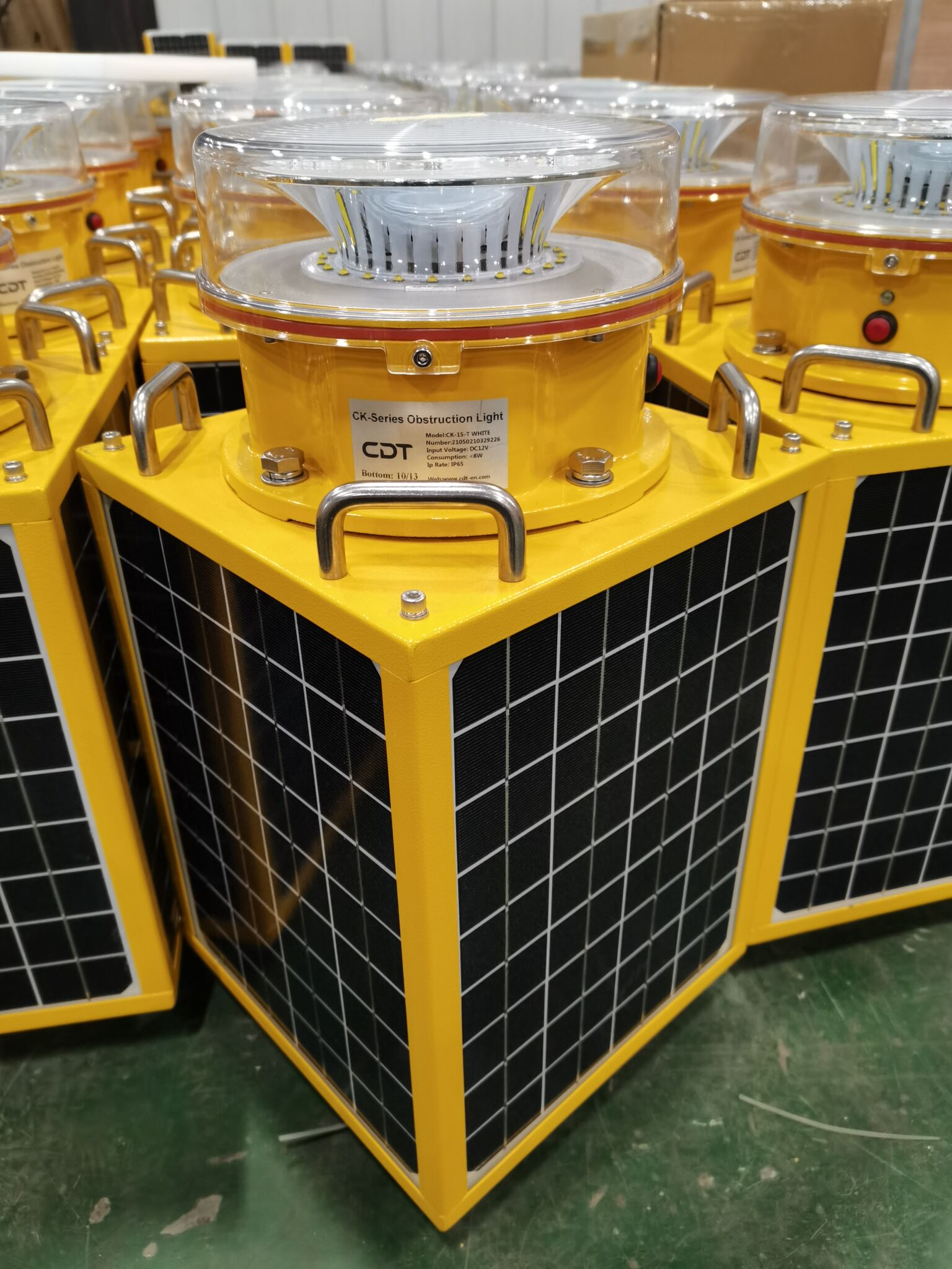 Hundreds of solar medium intensity aircraft warning light had been installed to electrical transmission line in Indonesia